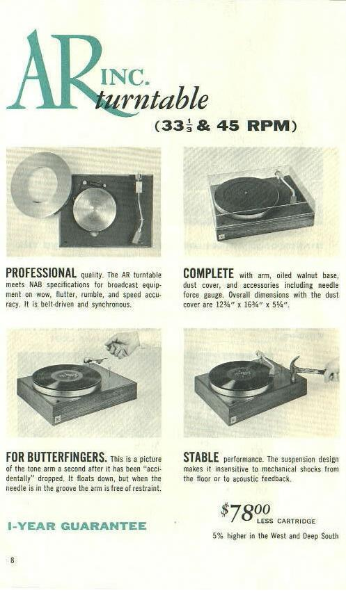 Audiophile Turntable 101: Acoustic Research AR-XA - AVS Forum | Home